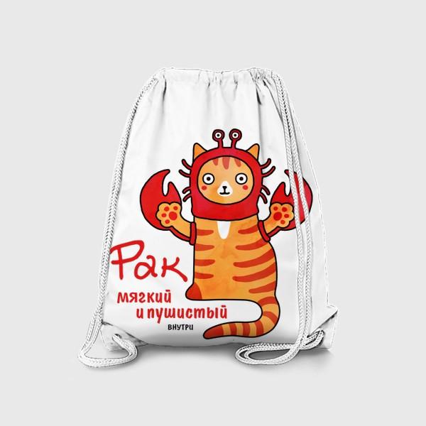 Рюкзак «Кот Рак знак Зодиака. Мягкий и пушистый внутри.»