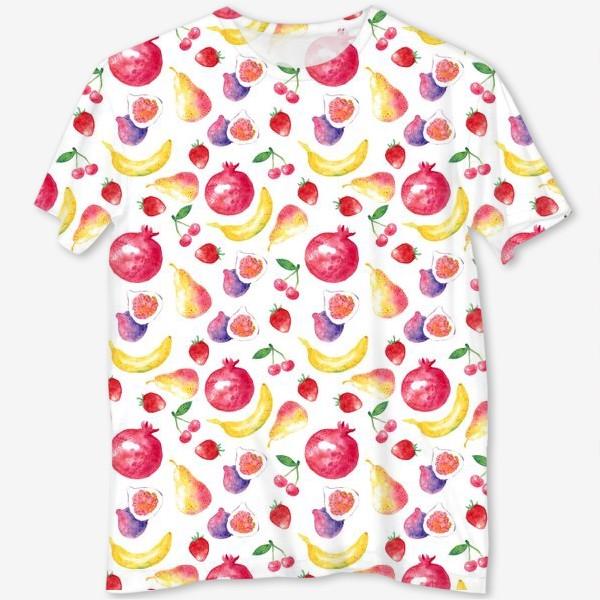 Футболка с полной запечаткой «Летние фрукты»
