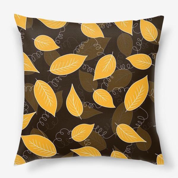 Подушка «Яркие осенние листья»