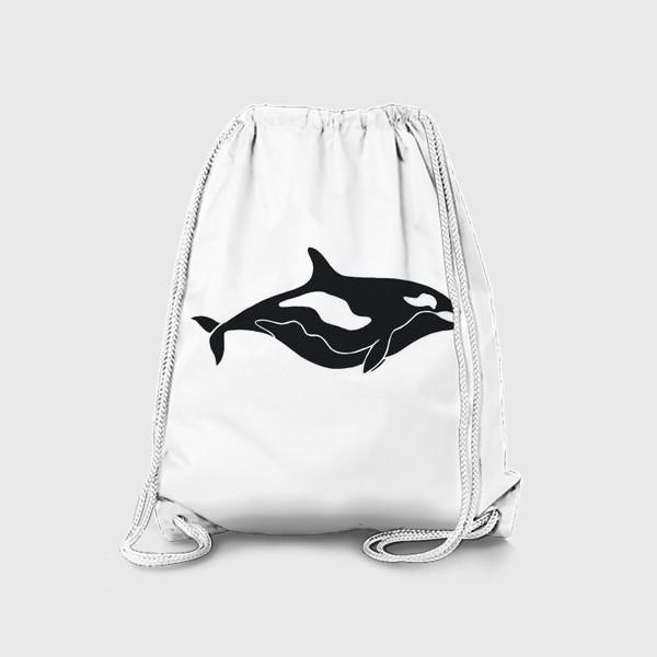 Рюкзак «Добрая Косатка. Черно-белый Кит»