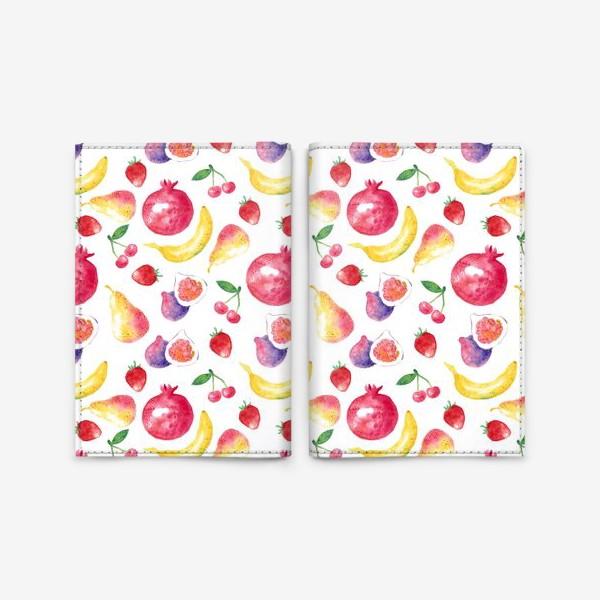 Обложка для паспорта «Летние фрукты»
