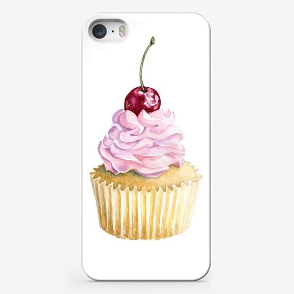 Чехол iPhone «Капкейк с вишенкой»