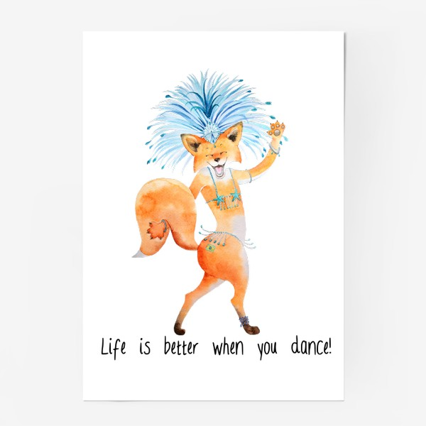 Постер «Life is better when you dance»