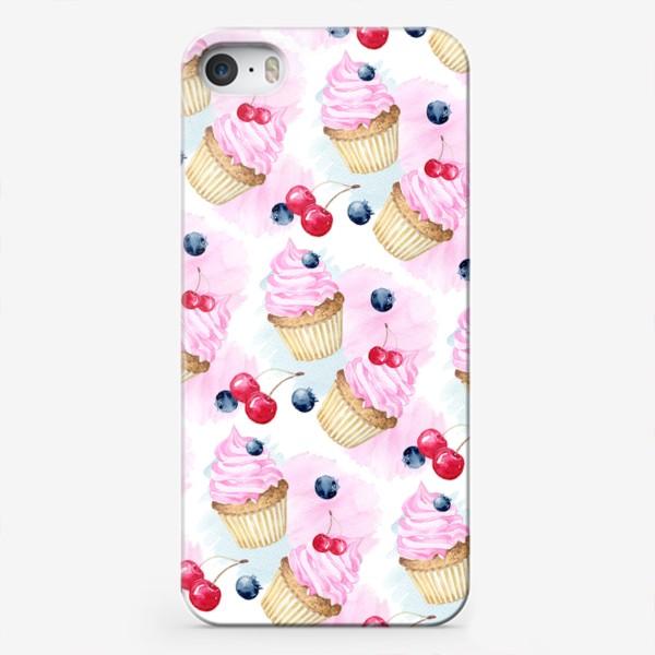 Чехол iPhone «Сладости и дессерты,паттерн»