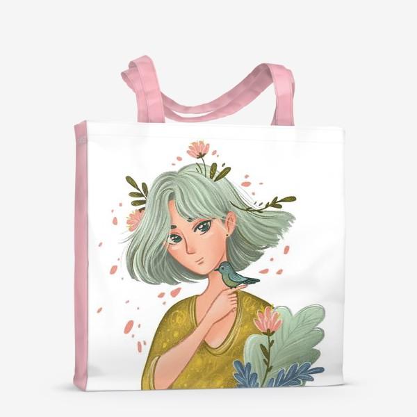 Сумка-шоппер «Девушка Весна»