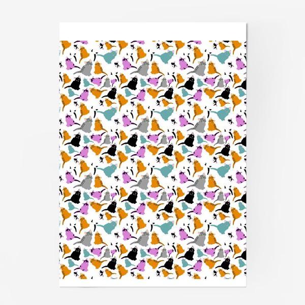Постер «маленькие котята. Узор из разноцветных котов.»