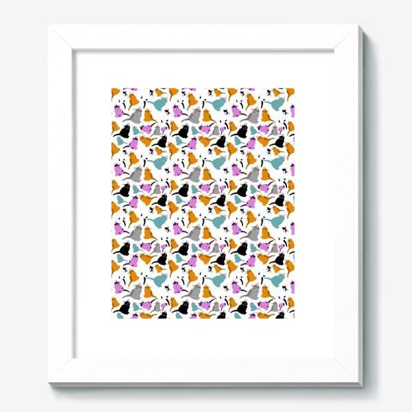 Картина «маленькие котята. Узор из разноцветных котов.»