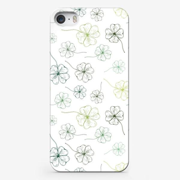 Чехол iPhone «Паттерн с клевером»