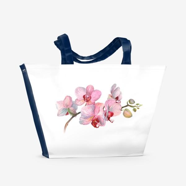 Пляжная сумка «ВЕТОЧКА ОРХИДЕИ»