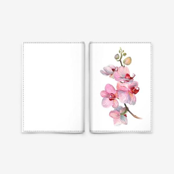 Обложка для паспорта «ВЕТОЧКА ОРХИДЕИ»