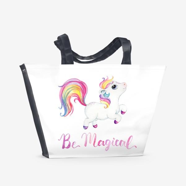Пляжная сумка «Be Magical like unicorn»