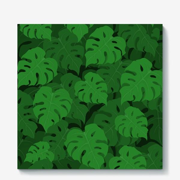 Холст «Паттерн из листьев монстеры»