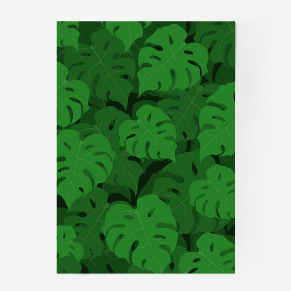 Постер «Паттерн из листьев монстеры»