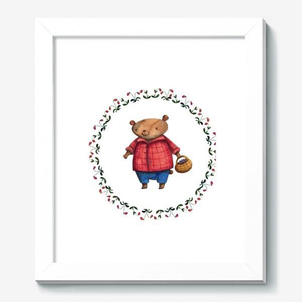 Картина «Мишка и ягоды»