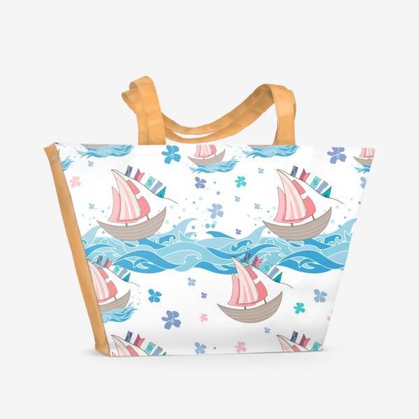 Пляжная сумка «Алые паруса»