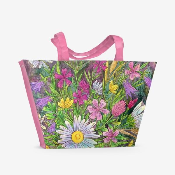 Пляжная сумка «Букет полевых цветов»