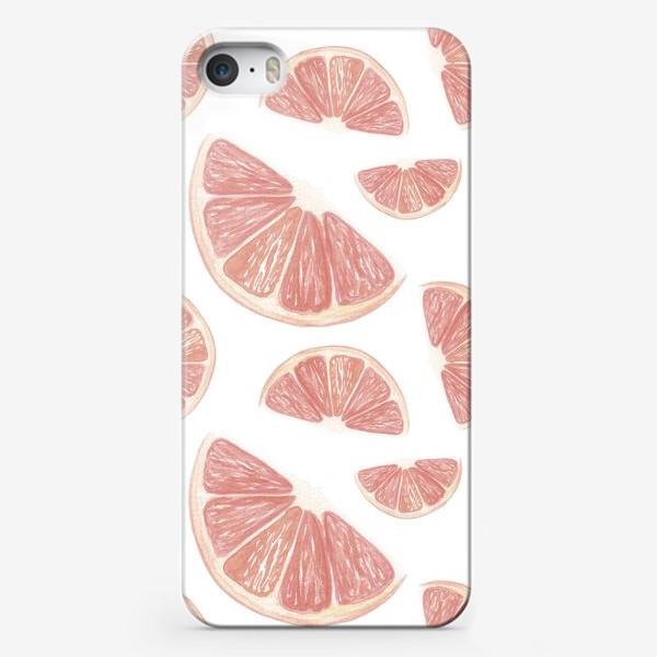 Чехол iPhone «Паттерн с грейпфрутами»