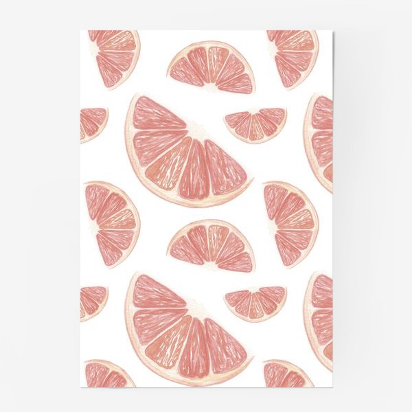 Постер «Паттерн с грейпфрутами»