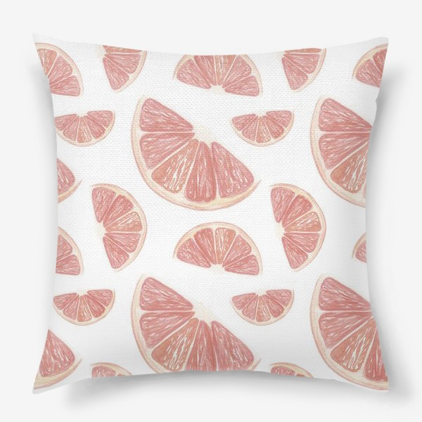 Подушка «Паттерн с грейпфрутами»