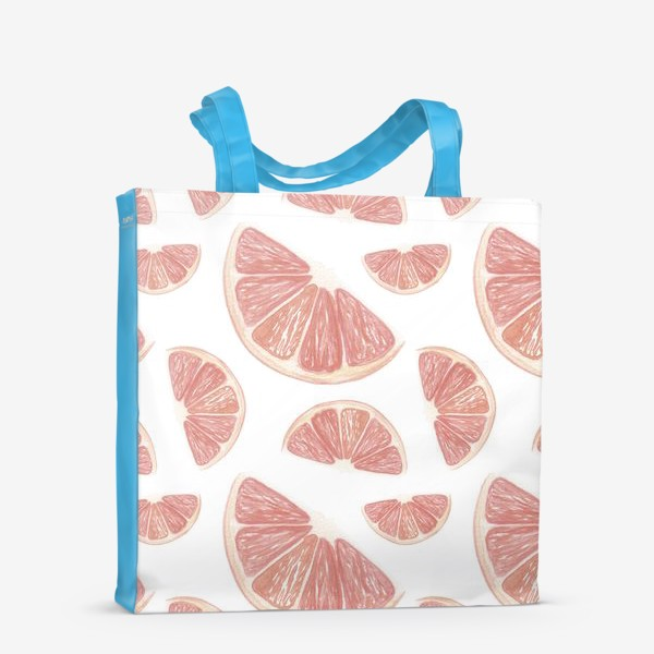 Сумка-шоппер «Паттерн с грейпфрутами»