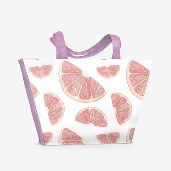 Пляжная сумка «Паттерн с грейпфрутами»