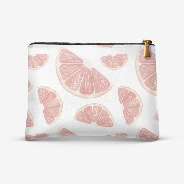 Косметичка «Паттерн с грейпфрутами»
