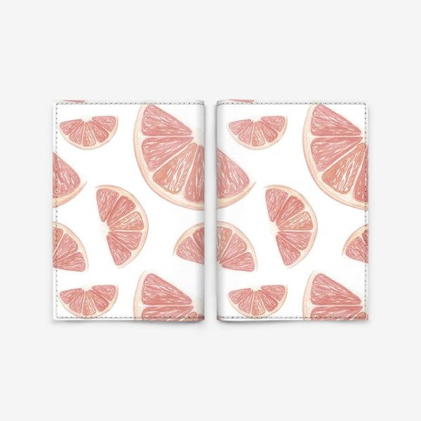 Обложка для паспорта «Паттерн с грейпфрутами»