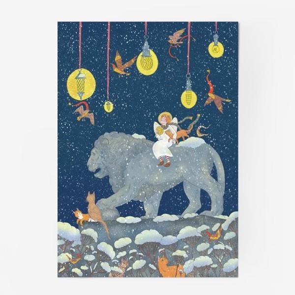 Постер «Первый снег. Ангел, Лев и котики»