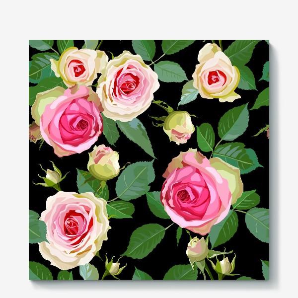 Холст «Pink roses»