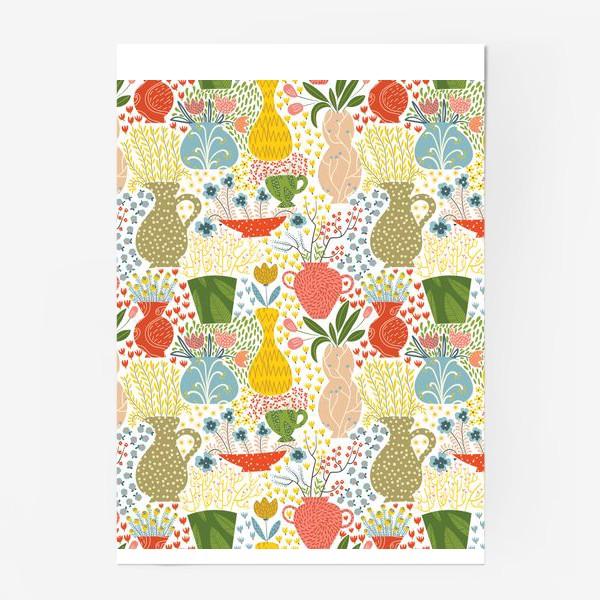 Постер «Цветы в вазах»