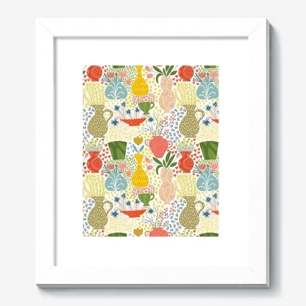 Картина «Цветы в вазах»
