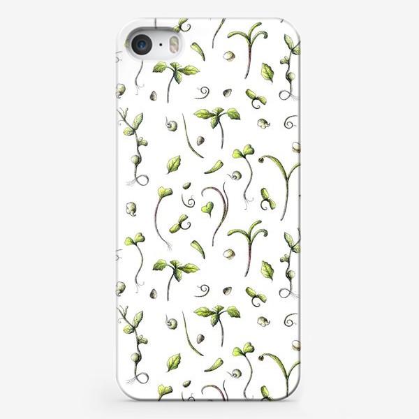 Чехол iPhone «Принт микрозелень»