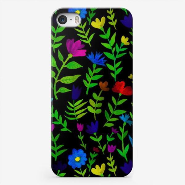 Чехол iPhone «Паттерн с яркими цветами»