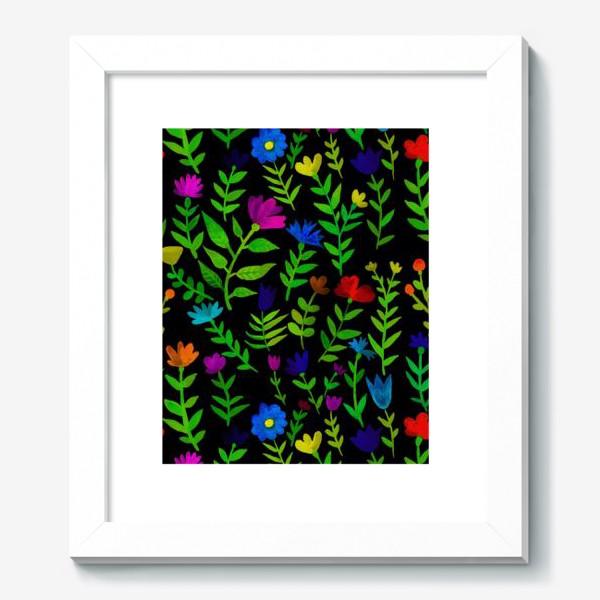 Картина «Паттерн с яркими цветами»