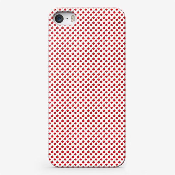 Чехол iPhone «Паттерн мелкие яблочки - ранетки»