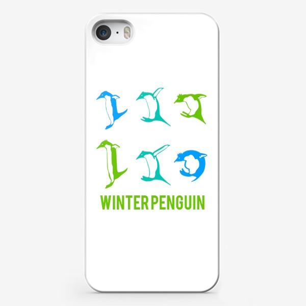 Чехол iPhone «Прыгающие  милые пингвины»
