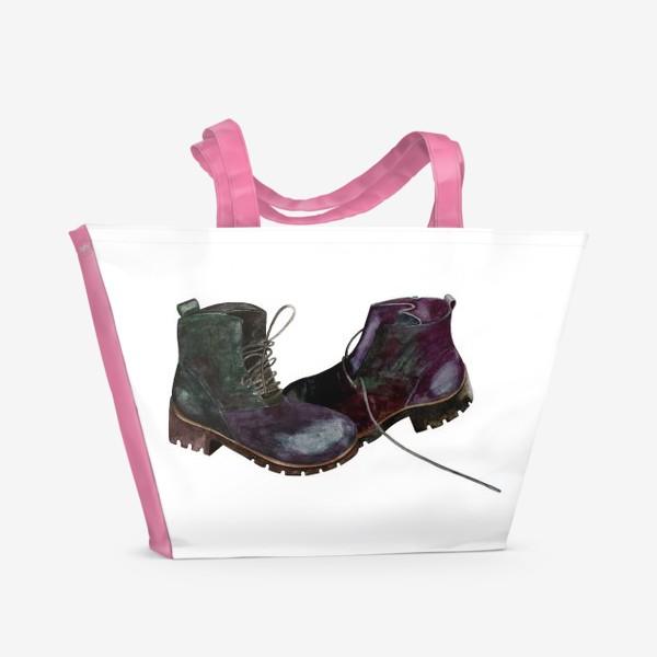 Пляжная сумка «Ботинки»
