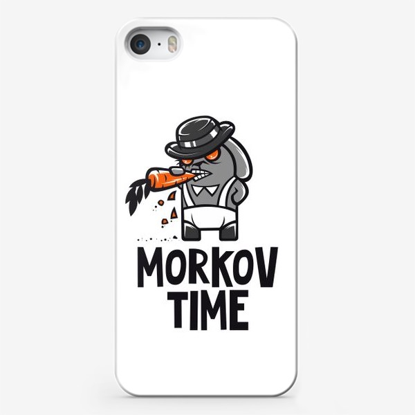 Чехол iPhone ««Morkov Time»: отсылка «Заводному апельсину», кролик»