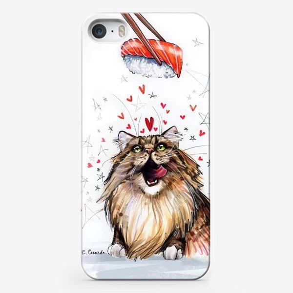 Чехол iPhone «Кот и суши»
