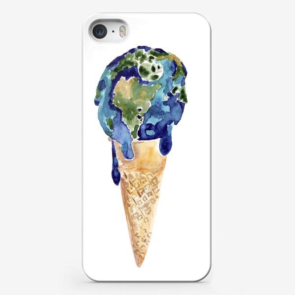 Чехол iPhone «Мороженка. Летняя прохлада. Счастье из детства.»