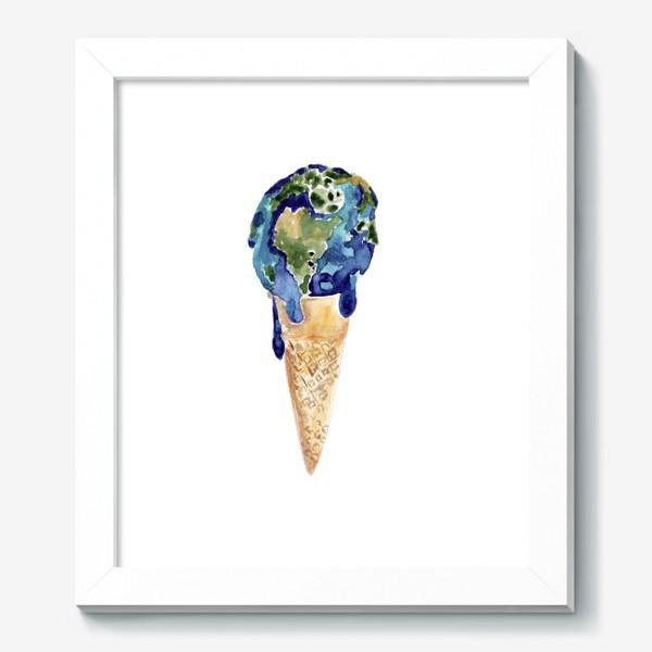 Картина «Мороженка. Летняя прохлада. Счастье из детства.»