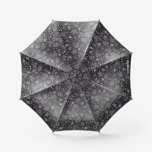 Зонт «Паттерн «Ночной лес»: грибы и растения севера»