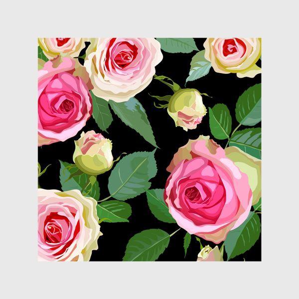 Шторы «Pink roses»