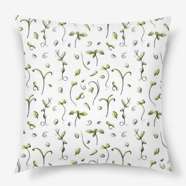 Подушка «Принт микрозелень»