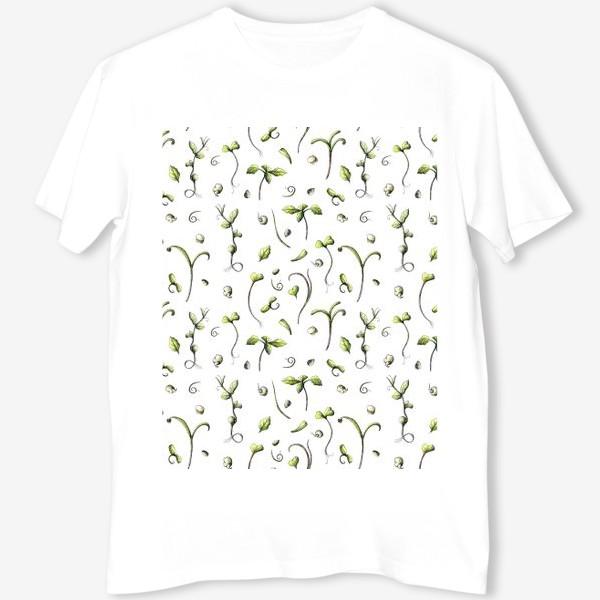 Футболка «Принт микрозелень»