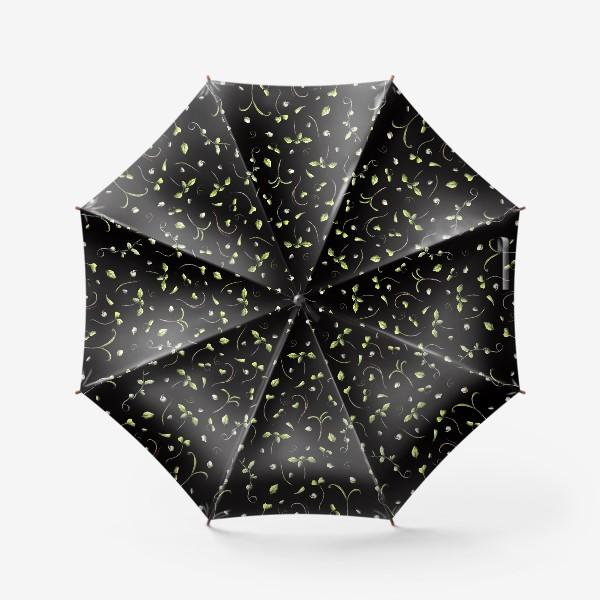 Зонт «Микрозелень на черном»