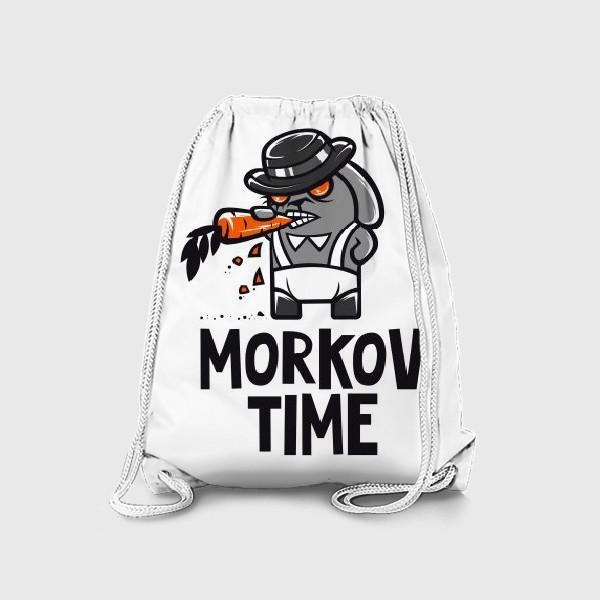 Рюкзак ««Morkov Time»: отсылка «Заводному апельсину», кролик»
