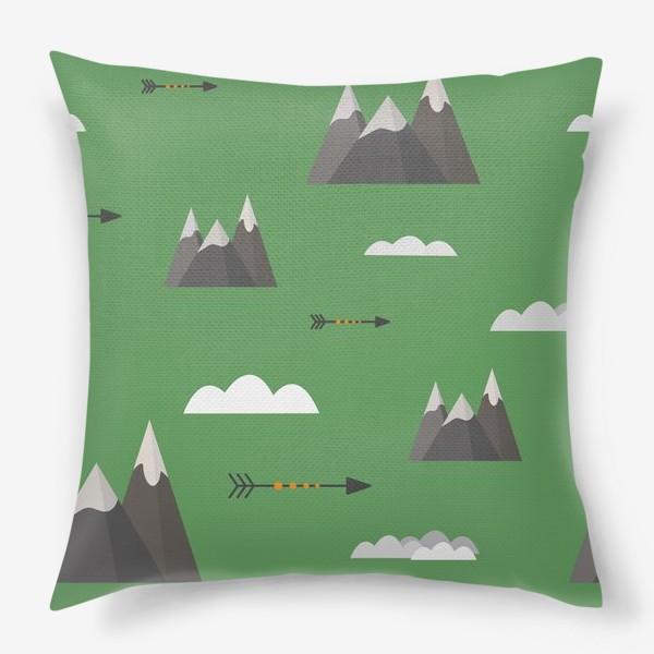 Подушка «Горы паттерн »