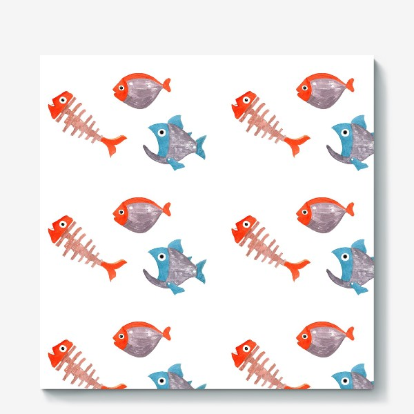 Холст «Яркие рыбки»