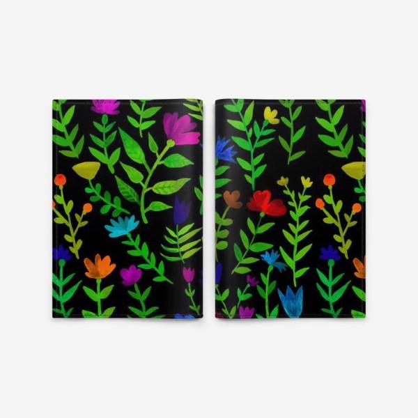 Обложка для паспорта «Паттерн с яркими цветами»